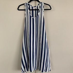 Ava Sky XS blue and white stripe dress